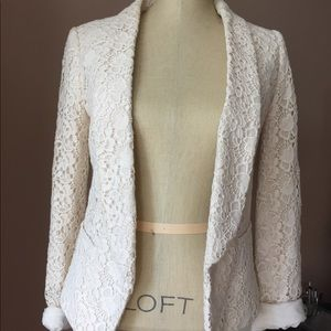 LOFT crochet Blazer
